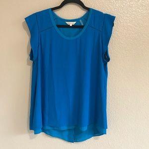 Rebecca Taylor blue short sleeve blouse size 10